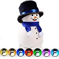 Sefod クリスマスプレゼント LEDナイトライト 雪だるま 飾りライト テーブルランプ 夜間ライト ベッドサイドランプ 7色変換 USB充電 タッチ式 1200mAH 長持ち 雰囲気作り シリコン製 安全 可愛い コンパクト 夜間ライト 授乳ライト 懐中電灯 常夜灯 プレゼント