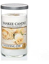 Yankee Candles Medium Pillar Candle - Wedding Day (Pack of 6) - ヤンキーキャンドルメディアピラーキャンドル - 結婚式の日 (x6) [並行輸入品]
