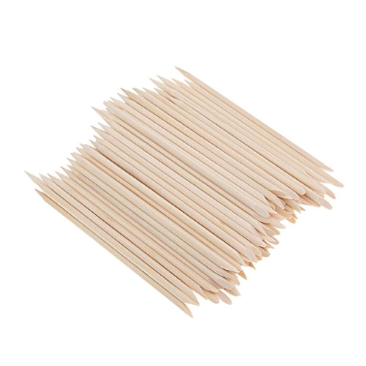 心のこもった棚フィード約100個 爪リムーバー ウッドスティック ネイルアート 木のスティック キューティクルプッシャー リムーバー マニキュアツール