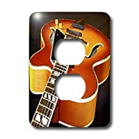 3drose LLC lsp 4093_ 6ジャズギター、2プラグコンセントカバー