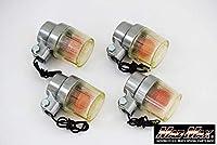MADMAX 汎用 丸型ヨーロピアンウインカー 4個セット 黄ばみ 20-1390PLA-4
