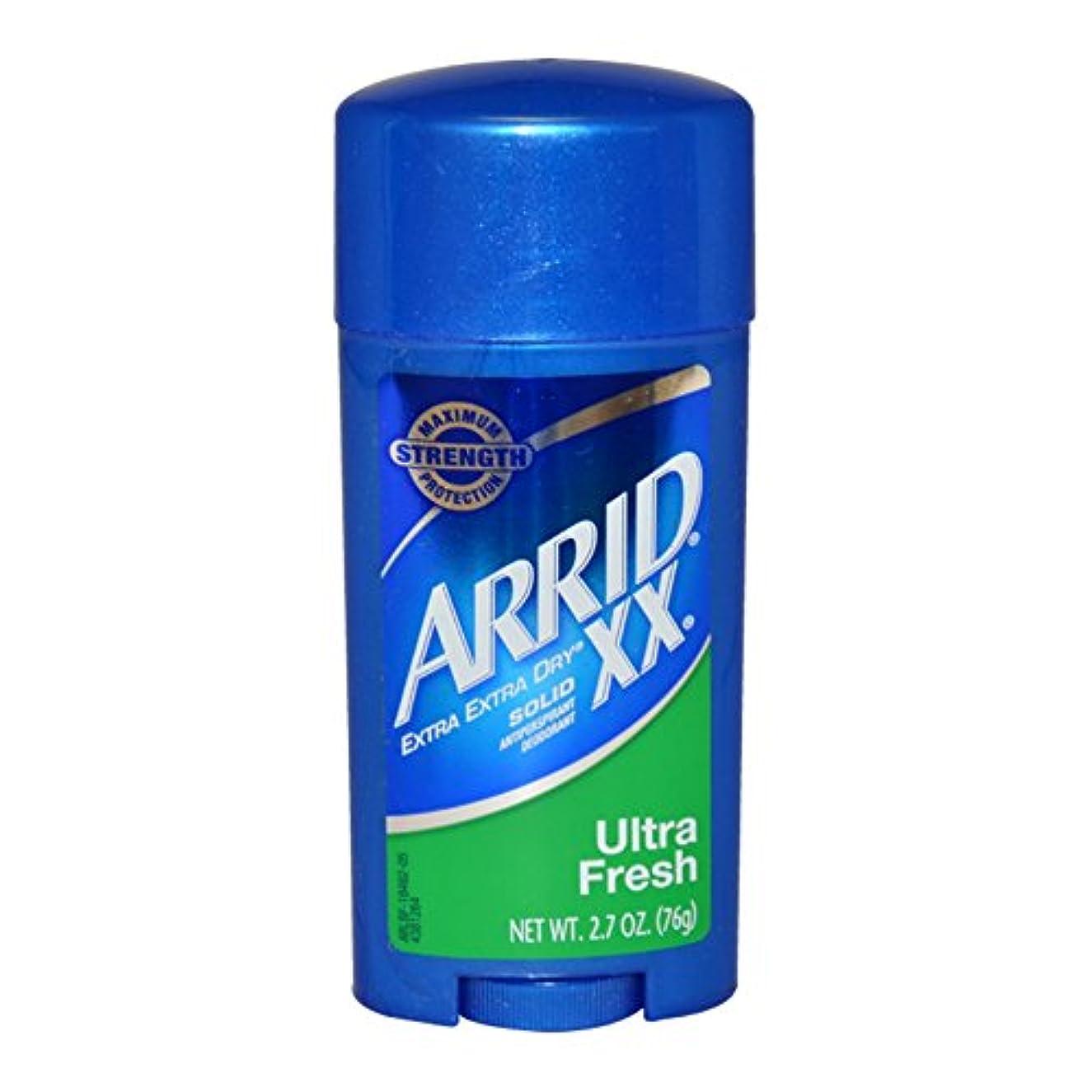 地域のふさわしい本物のArrid XX Antiperspirant Deodorant, Solid, Ultra Fresh - 2.7 oz (76 g) アリッド デオドラントソリッドウルトラフレッシュ [並行輸入品]