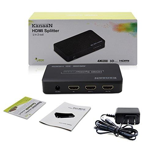 【LEICKE KanaaN】 1入力2出力 4K HDMI 分配器 UHD UHD-TV, 3D可能、1 to 2 HDMI 4K スプリッター最大2160p