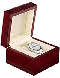 WINOMO 木製 腕時計収納 ボックス ウォッチ収納ケース 1本用 コレクション ディスプレイ クッション付き