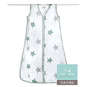 aden + anais (エイデンアンドアネイ) 【日本正規品】 クラシック スリーピング バッグ (スリーパー) up, up and away sleeping bag (L) 8064