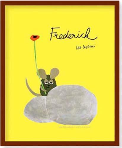 ミニポスター×フレームセット Leo Lionni's フレデリック 茶 FST-028