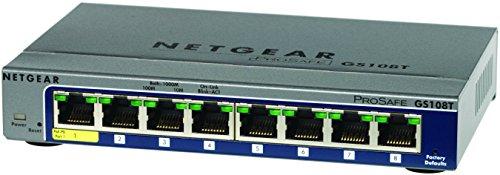 NETGEARギガ8ポート スマートスイッチPoE受電可能 ウェブブラウザー簡単設定・運用管理 無償永久保証 GS108T-200JPS