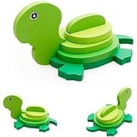 Fineser ( TM )動物ミニ3dパズルキッズ教育面白いおもちゃ木製カラフルJigsawギフト 14.5cmX14.5cm マルチカラー Fineser