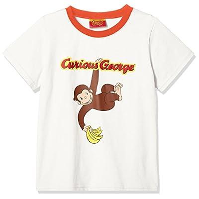 (ナカタ) nakata おさるのジョージ バナナいただきTシャツ SN9025 オフホワイト 120�