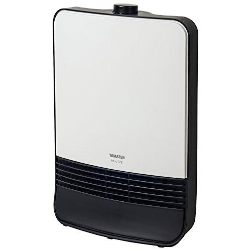 山善 セラミックヒーター(1200W/600W 2段階切替) ホワイト HF-J122(W)