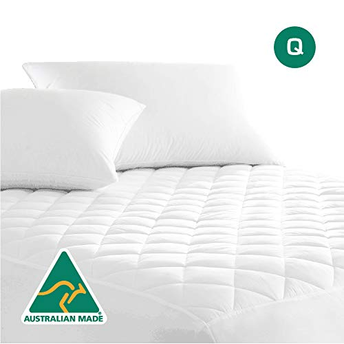 Luxor Linen Australian Made Cotton Quilted Mattress Protector (Quilted-MP-Q)