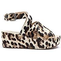 Matisse Womens x Amuse Society Runaway Leopard Cheetah Platform Sandal
