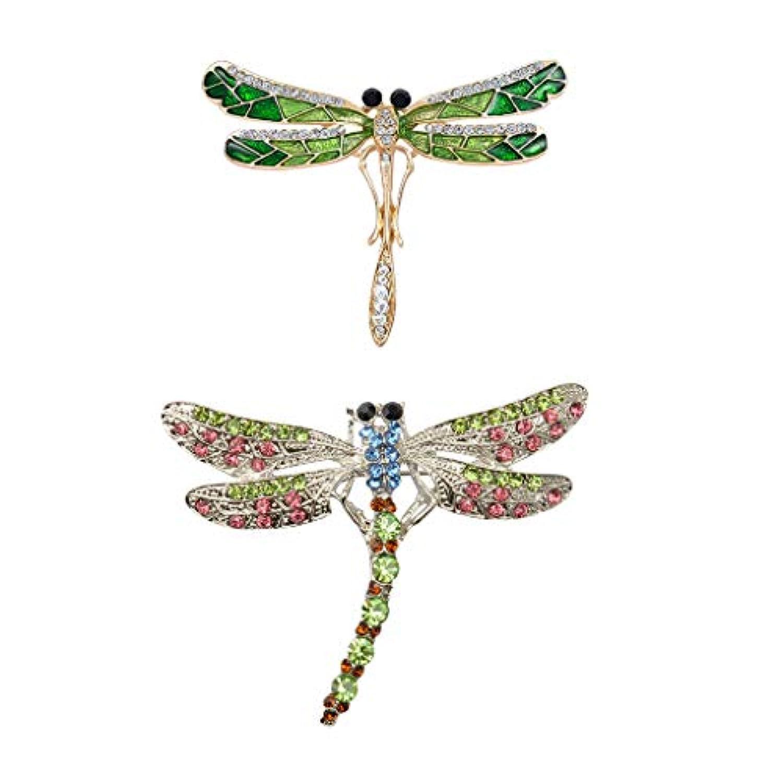 Perfeclan トンボのブローチピン 昆虫のブローチピン ビンテージブローチピン ファッション アクセサリー