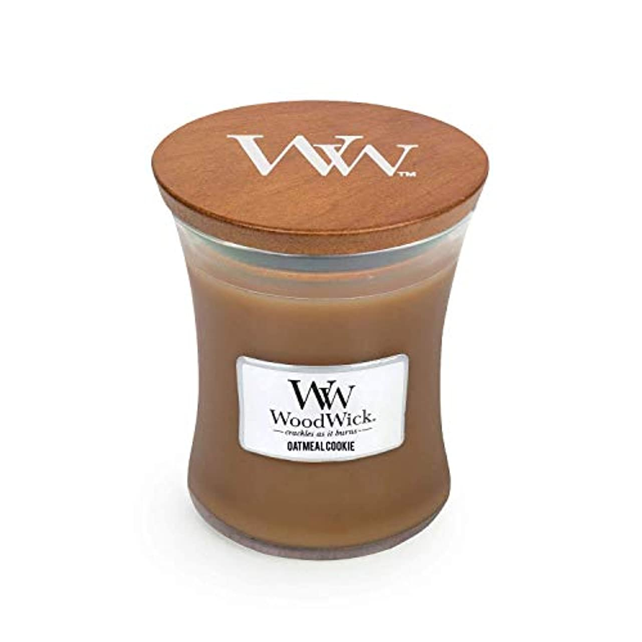 森ブレス動揺させるWoodwick Oatmeal Cookie Medium Scented Jar Candle