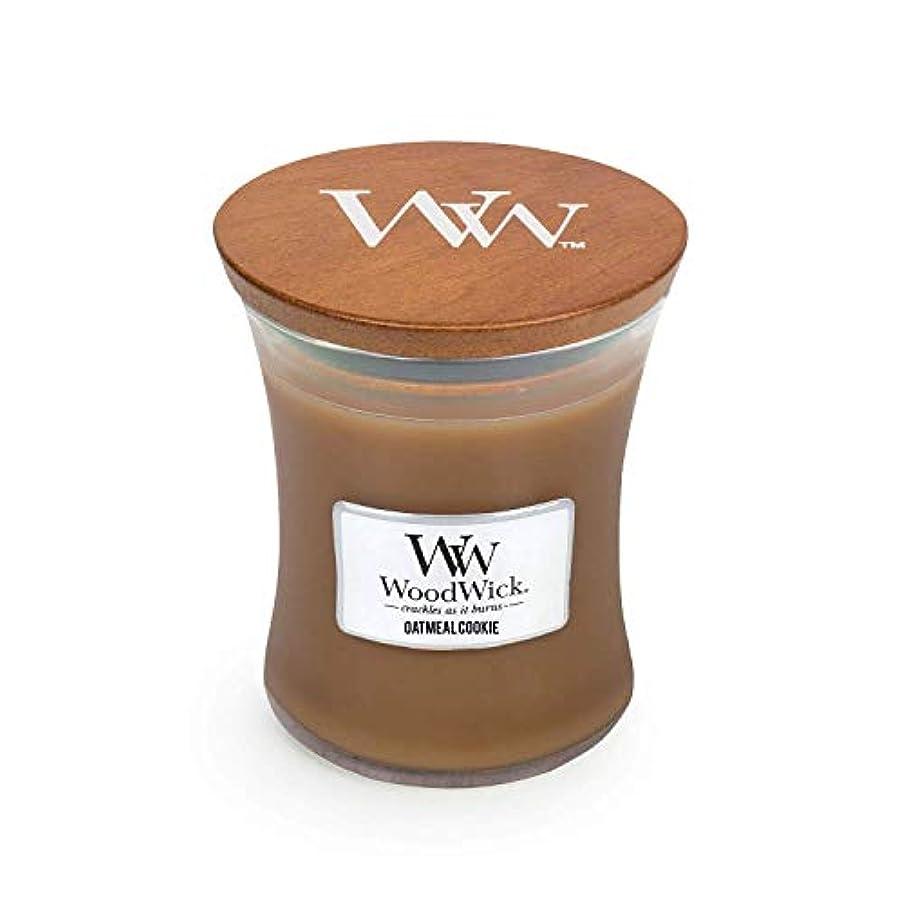 秀でるこしょう妨げるWoodwick Oatmeal Cookie Medium Scented Jar Candle