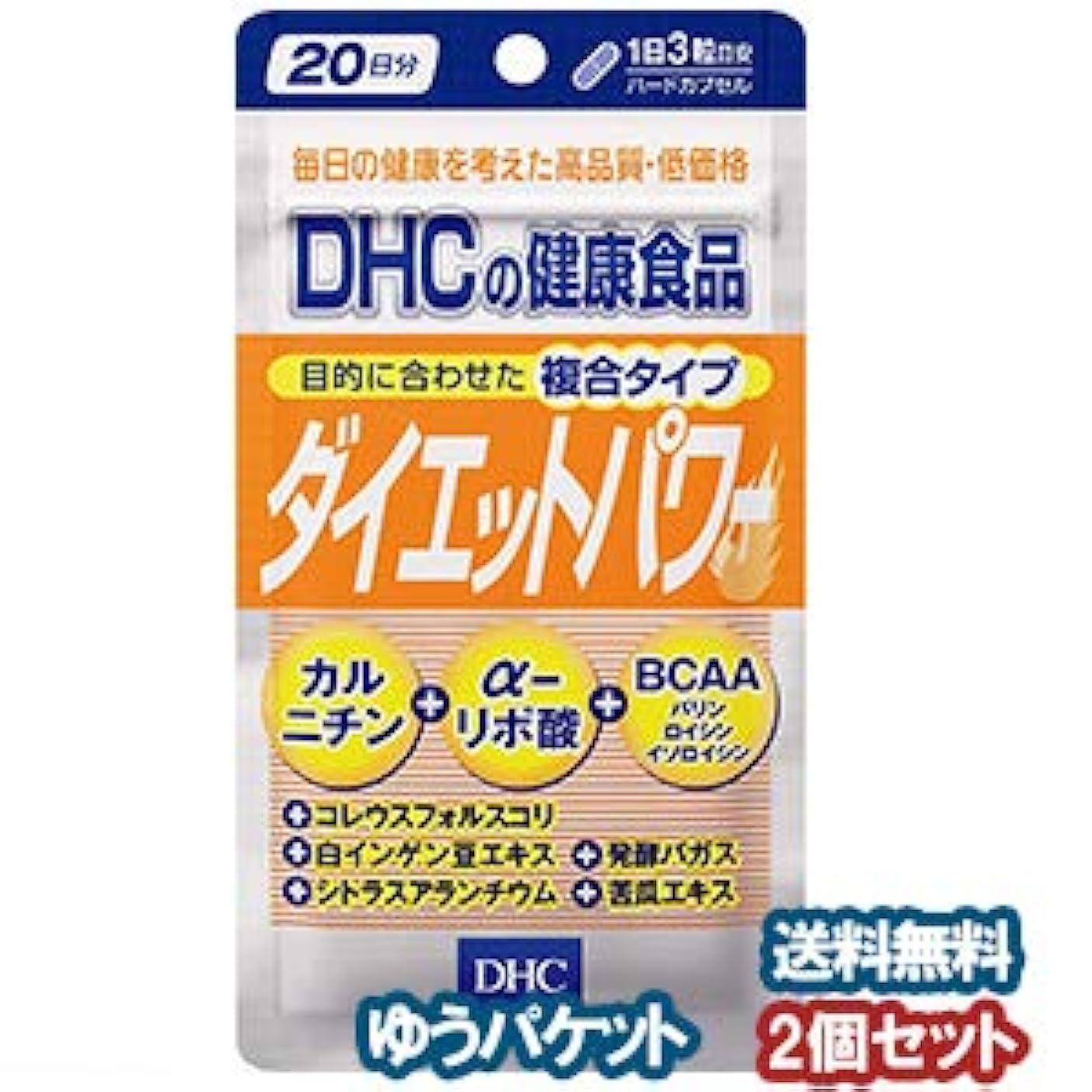 ファイバ降ろすおびえたDHC 20日分 ダイエットパワー 60粒×2個セット