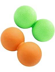 D DOLITY 2個 マッサージボール ピーナッツ型 筋膜リリース トリガーポイント リラックス 携带便利