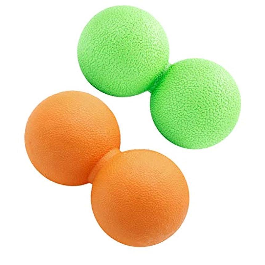 ベアリングサークル外交官タオルKESOTO 2個 マッサージボール ピーナッツ 疲れ解消ボール トリガーポイント 筋膜リリース ツボ押しグッズ