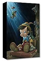 Disney ディズニー/ジャレッド・フランコ「ピノキオ/リトル・ウッド・ボーイ」作品証明書・展示用フック付 【並行輸入品】限定1500部