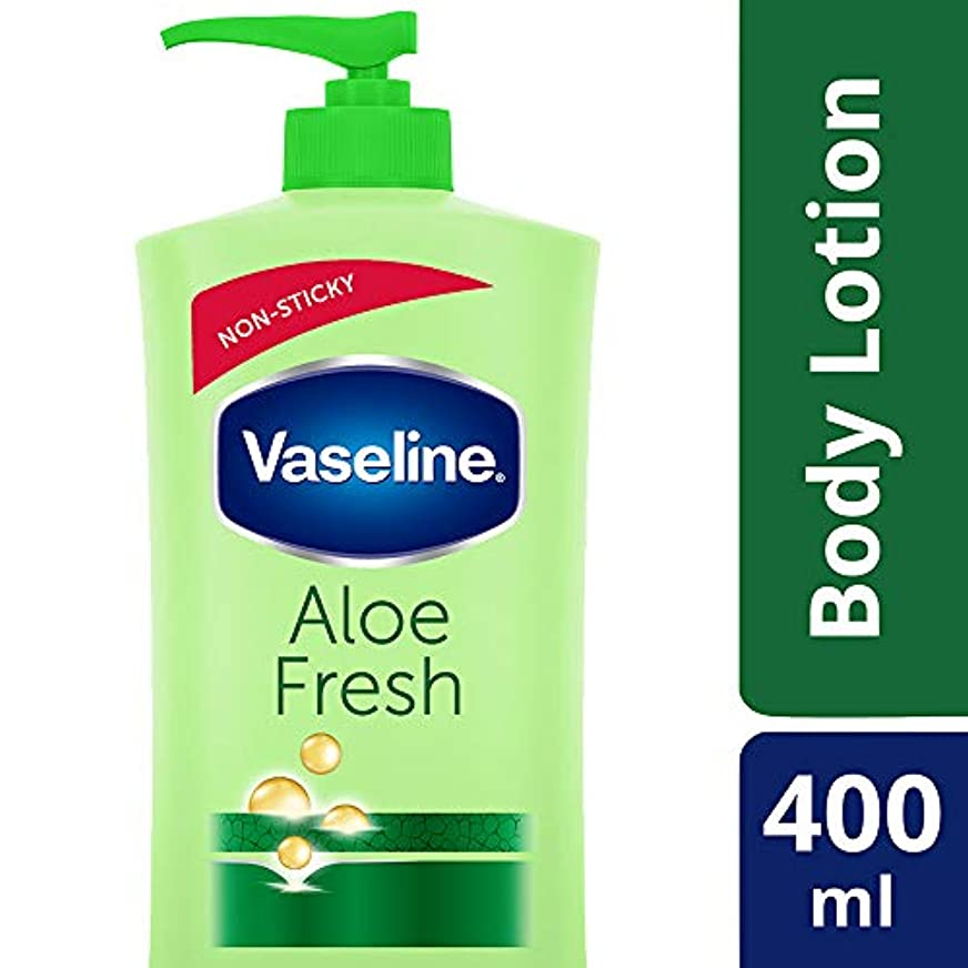 浸す代替インディカVaseline Intensive Care Aloe Fresh Body Lotion, 400 ml