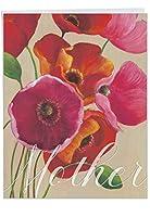 """ジャンボ母の日注意カード: Painted Poppies–母の日:太字と鮮やかなイメージの特徴のカラフルなPoppy Flowers with Envelope (ビッグサイズ: 8.5"""" X 11"""") j4548cmdg"""