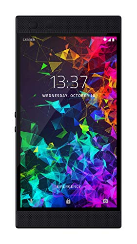RAZER Phone 2: Unlocked Gaming Smartphone – 120Hz Display – Snapdragon 845 – Wireless Charging – Razer Chroma – 8GB RAM - 64GB Mirror Black Finish