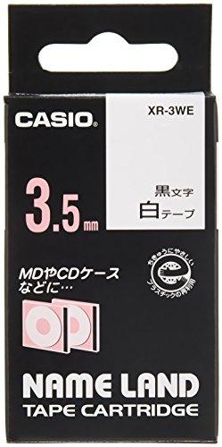 カシオ ラベルライター ネームランド テープ 3.5mm XR-3WE 白