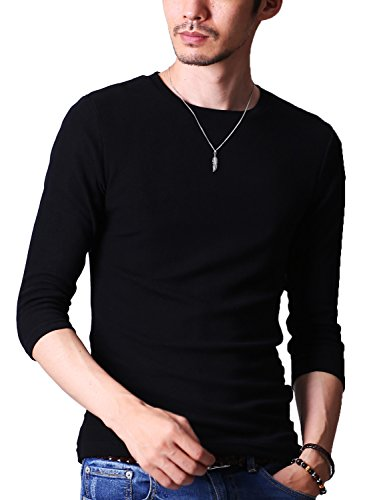 『FTELA(フテラ) メンズ シャツ カットソー Tシャツ ロンTクルーネック 丸首 Vネック 長袖 7分袖 半袖 無地 シンプル スリム』画像