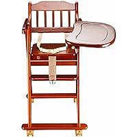 ブースターシート ソリッドウッドベビーチェアベビーハイチェア多機能折りたたみストレージ安全椅子-1-3歳の赤ちゃん A+ (色 : 1#)
