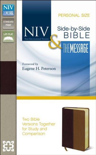 Download NIV & The Message Side-By-Side Bible: New International Version & The Message, Black Cherry / Dark Caramel, Italian Duo-Tone, Personal Size 0310436796