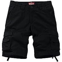 Match Men's Loose Fit Multi Pocket Cotton Twill Summer Cargo Shorts #S3612