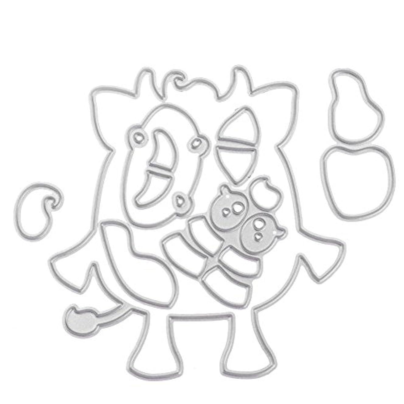 料理派手ラショナルTrendyest カード作り道具 ダイカットテンプレート スクラップブック 誕生日 結婚式 パーティー お祝い 雰囲気 紙飾り用具 切り抜き紙が作れる型?猫型