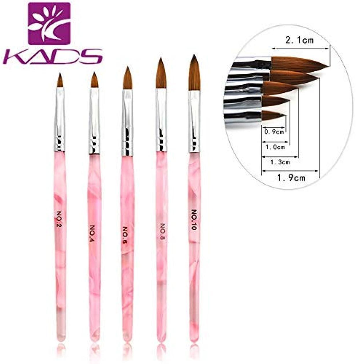 章効率的に重要KADS ネイルブラシセット スカルプネイルブラシ 5本入り 可愛いピンク色 アクリルネイル用筆 ネイルブラシセット ネイルアート専用ブラシ