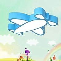 漫画の天井灯、クリエイティブブルーアクリル/航空機のデザインLEDシーリングライト、子供部屋の研究幼稚園の目の保護吊り天井のランプ、60 * 8 cm,Whitelight