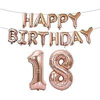Daily Sweet  誕生日パーティー アルミ風船 バルーン 可愛い 40インチ HAPPY BIRTHDAY パーティグッズ 飾り  誕生日パーティーセット (18歳)