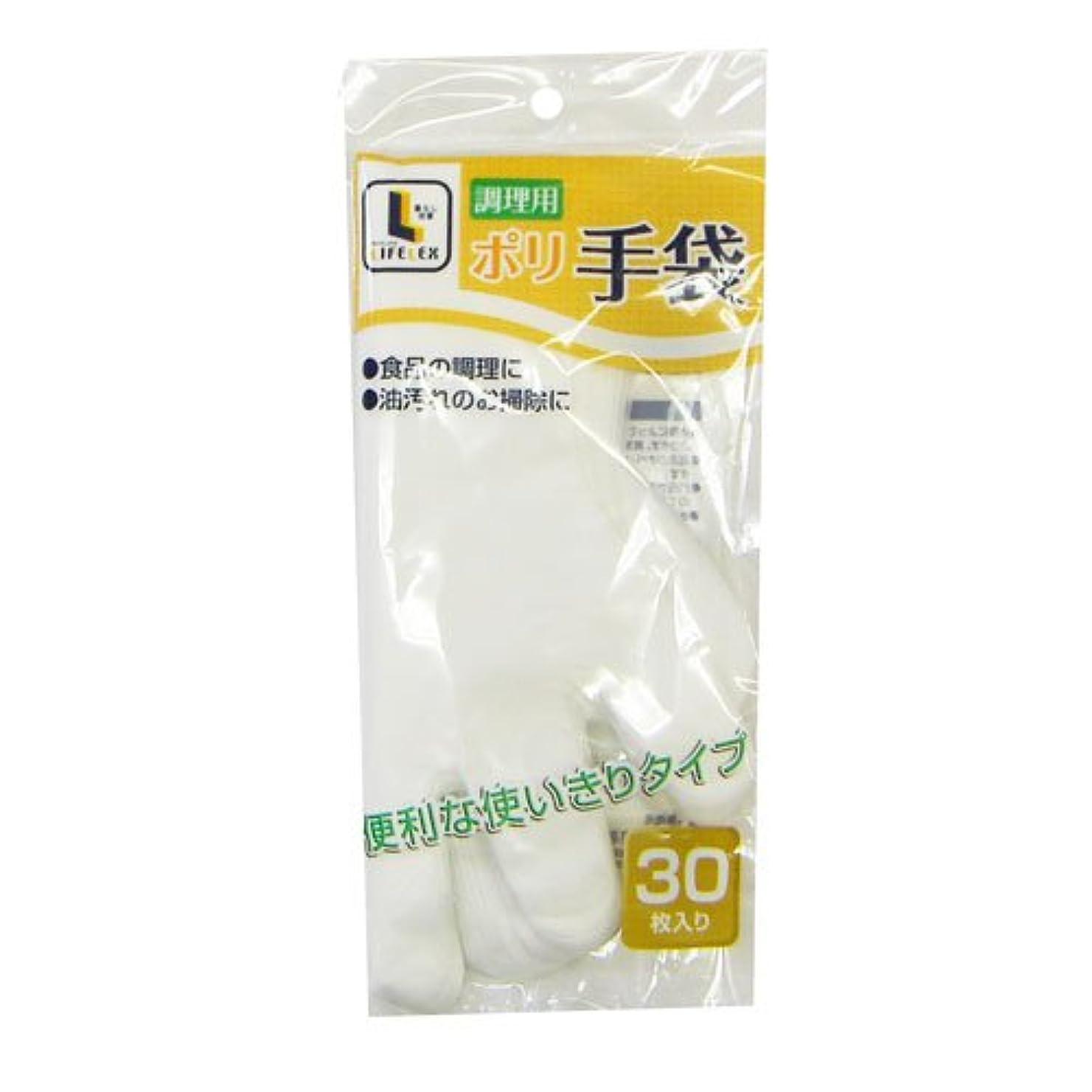 メッシュシダアウトドアコーナンオリジナル 調理用ポリ手袋 30枚入 KHD05-7510