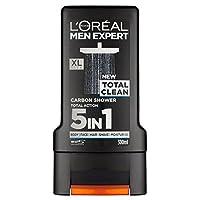 L'Oreal Paris Men Expert Total Clean Shower Gel 300ml (Pack of 6) - ロレアルパリのメンズ専門トータルクリーンシャワージェル300ミリリットル x6 [並行輸入品]