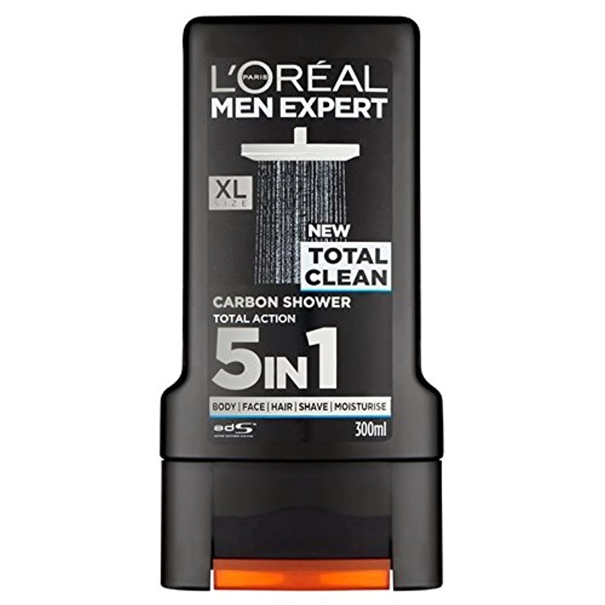学習者チャレンジペレットL'Oreal Paris Men Expert Total Clean Shower Gel 300ml - ロレアルパリのメンズ専門トータルクリーンシャワージェル300ミリリットル [並行輸入品]