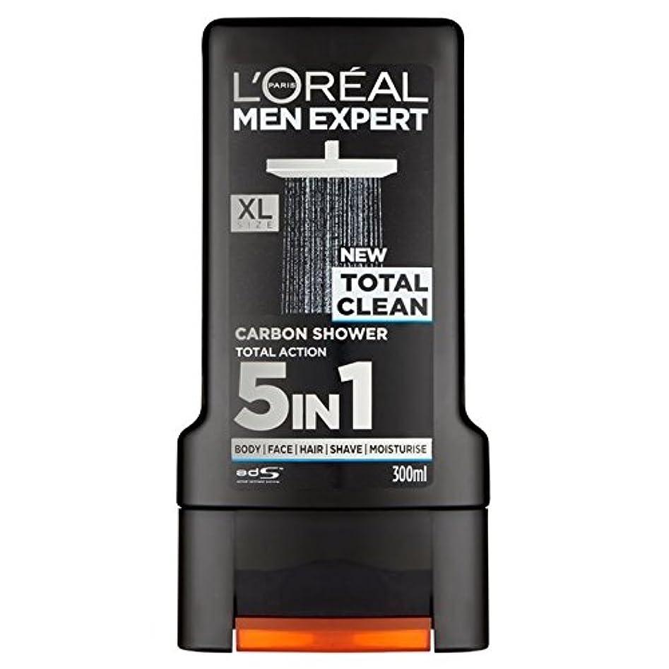 筋肉の生命体音楽家ロレアルパリのメンズ専門トータルクリーンシャワージェル300ミリリットル x2 - L'Oreal Paris Men Expert Total Clean Shower Gel 300ml (Pack of 2) [並行輸入品]