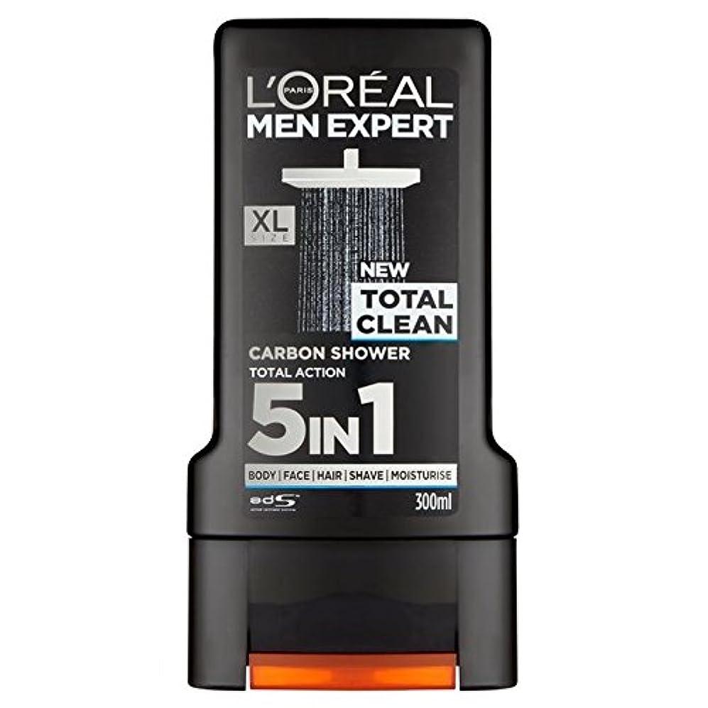 勝利した泥沼交差点ロレアルパリのメンズ専門トータルクリーンシャワージェル300ミリリットル x4 - L'Oreal Paris Men Expert Total Clean Shower Gel 300ml (Pack of 4) [並行輸入品]