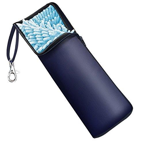 Wsky 折りたたみ傘 カバー 2面超吸水 傘ケース 携帯便利 ブルー