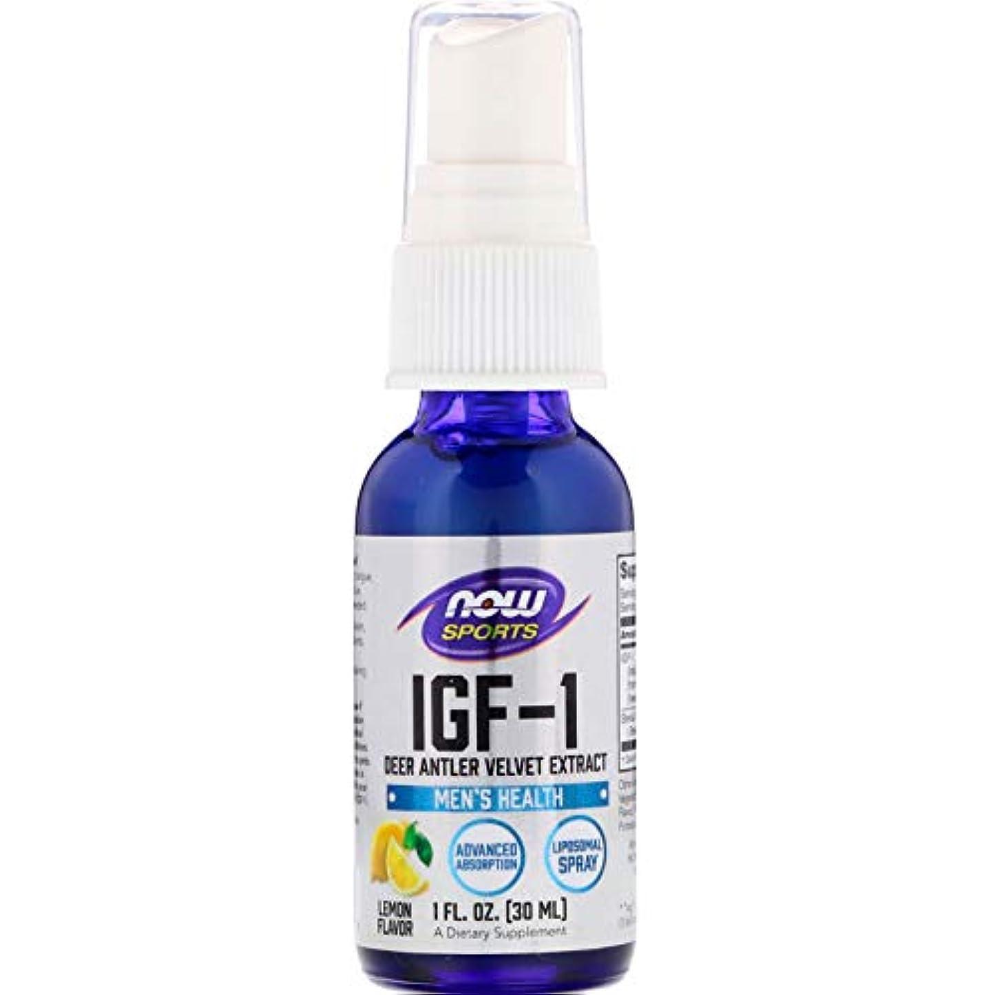 腹痛横に入植者IGF-1リポソームスプレー1オンス(28ml) IGF-1 plus Liposomal Spray 1oz #NOW03201