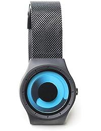 SKONE 腕時計 メンズ 時計 ファッション watch for men 防水 ビジネスカジュアル ステンレスメッシュ (ブラックブルー)
