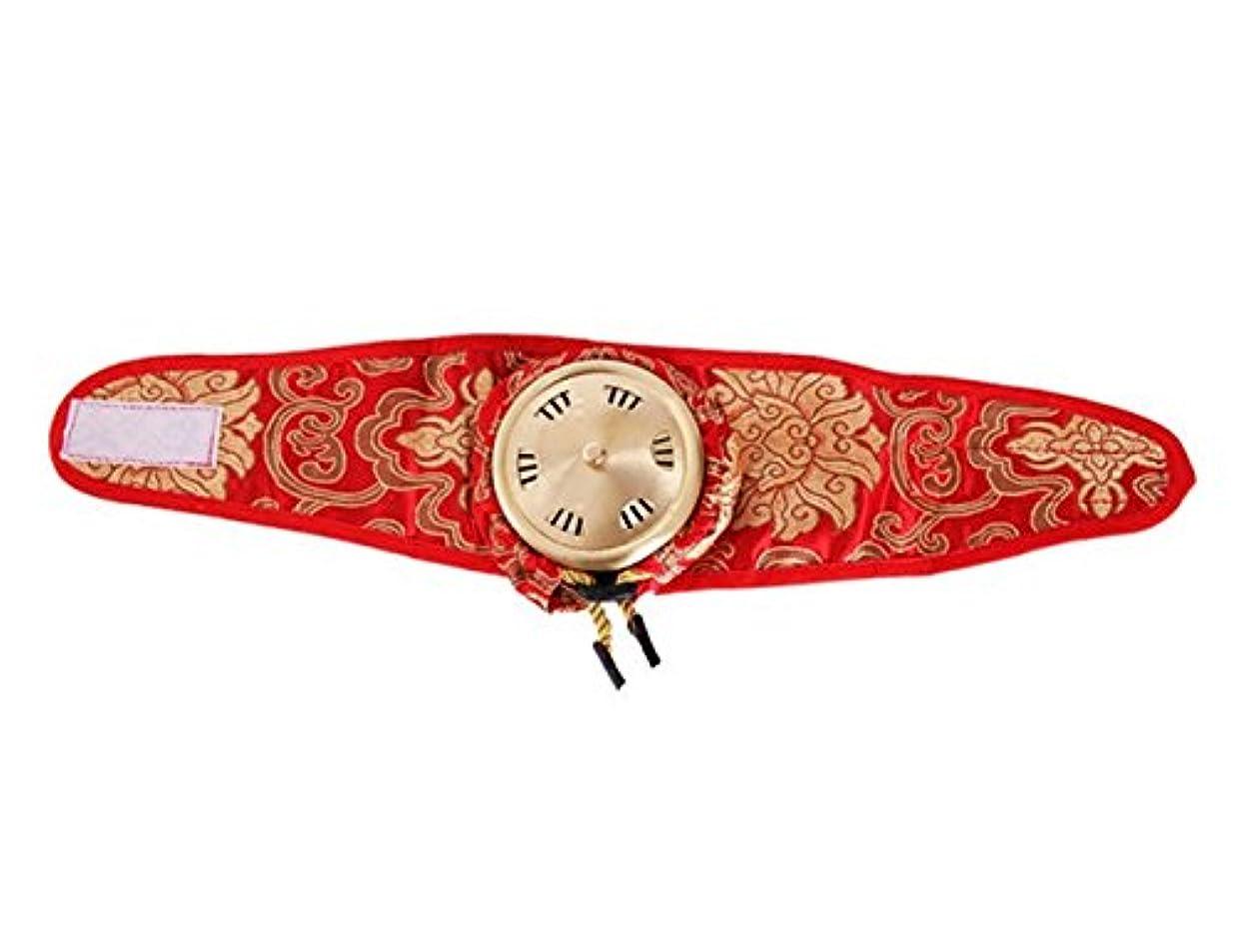 パールひいきにする花束ポータブルシングルリンク純粋な銅サテン布灸マッサージボックス Elitzia ET01