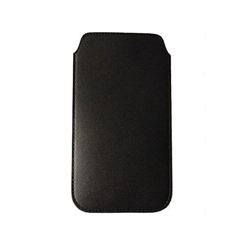 iPhone7 Plus スリップインケース 4.7インチ 収納ポーチ シンプル PUレザー スリーブ 出し入れ容易 全面保護 アイフォン7 プラス インナーケース ポーチ ブラック (iPhone 7 Plus, 黒) [並行輸入品]