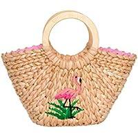 Review Women's Fancy Flamingo Wicker Bag Straw/Multi