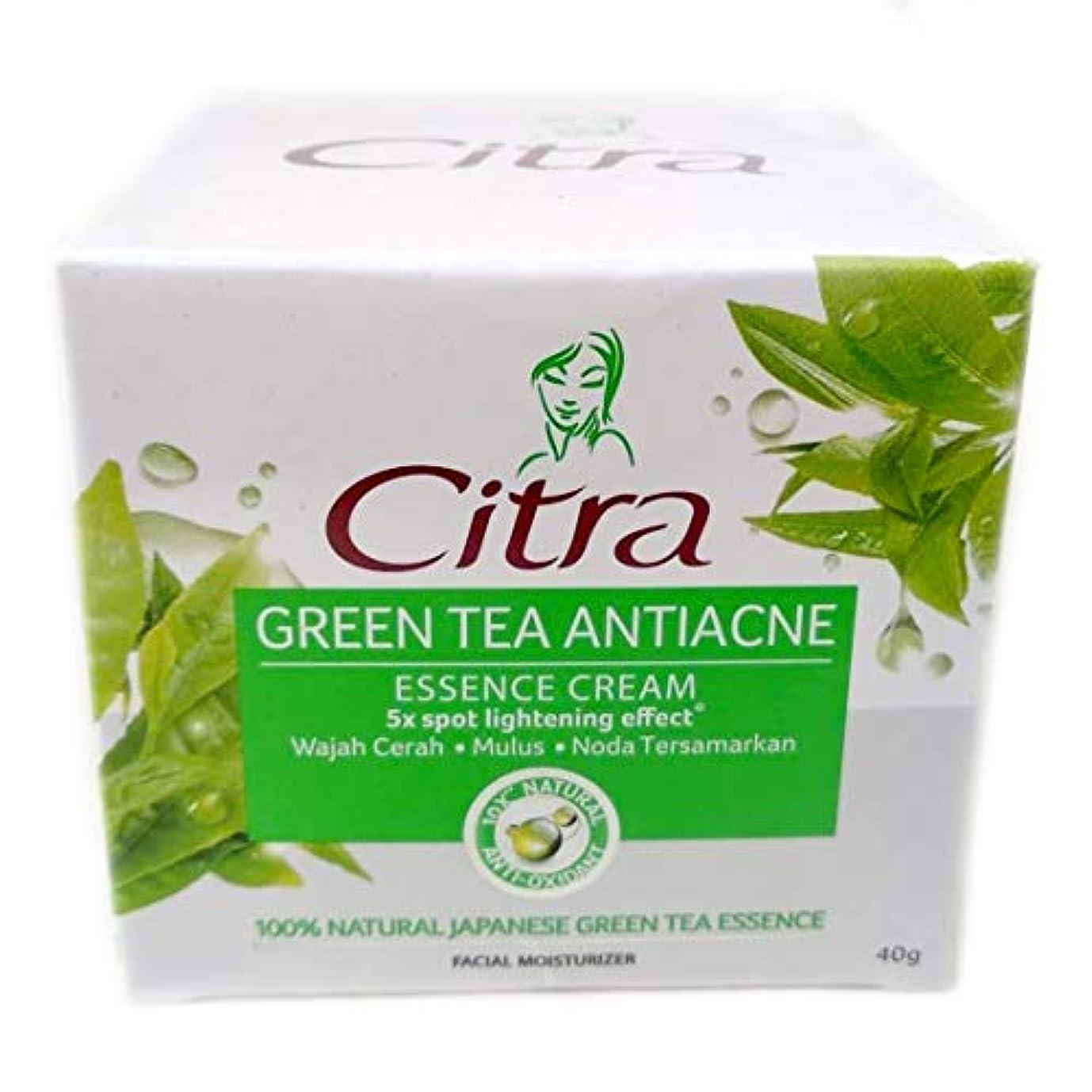 政治的南東暴動Citra チトラ Facial Moisturizer フェイシャルモイスチャライザー エッセンシャルフェイスクリーム Green Tea Antiacne 40g [海外直送品]