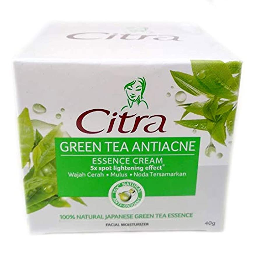 悲観主義者全能こだわりCitra チトラ Facial Moisturizer フェイシャルモイスチャライザー エッセンシャルフェイスクリーム Green Tea Antiacne 40g [海外直送品]