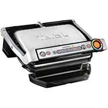 TEFAL OptiGrill+ Stainless Steel Health Grill GC712 with Automatic Thickness and Temperature Measurement, 2000 W