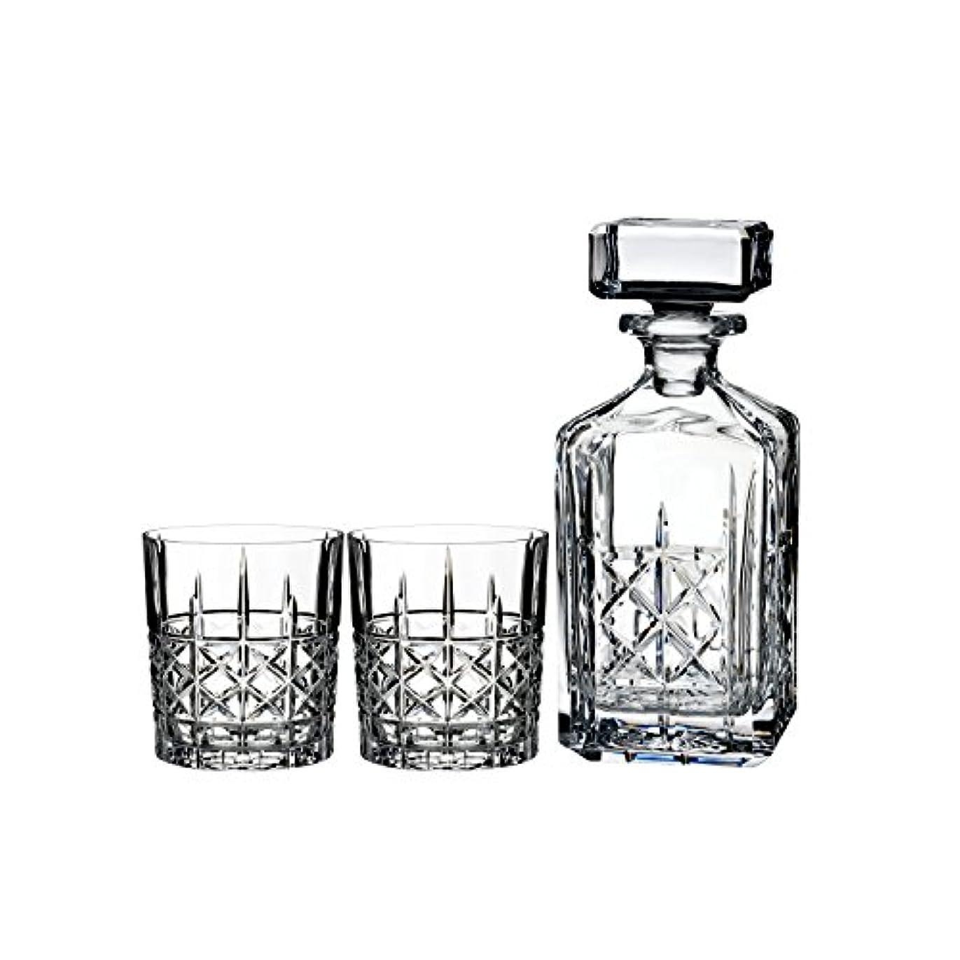 酒排出準備するMarquis by Waterford Brady Decanter Set with Two Double Old Fashioned Glasses by Waterford
